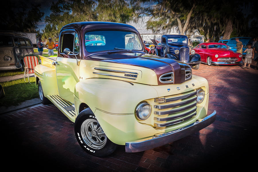 1950 ford pick up truck f100 photograph by rich franco. Black Bedroom Furniture Sets. Home Design Ideas