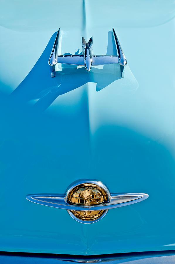 1950 Oldsmobile Photograph - 1950 Oldsmobile Hood Ornament by Jill Reger