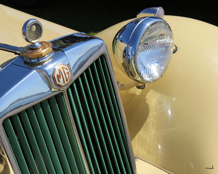 Auto Photograph - 1950 Yellow Mg Grille by Mark Steven Burhart