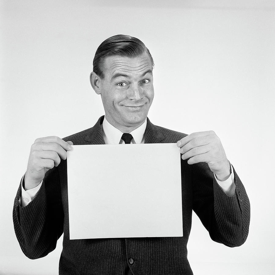 Horizontal Photograph - 1950s 1960s Smiling Man Funny Facial by Vintage Images