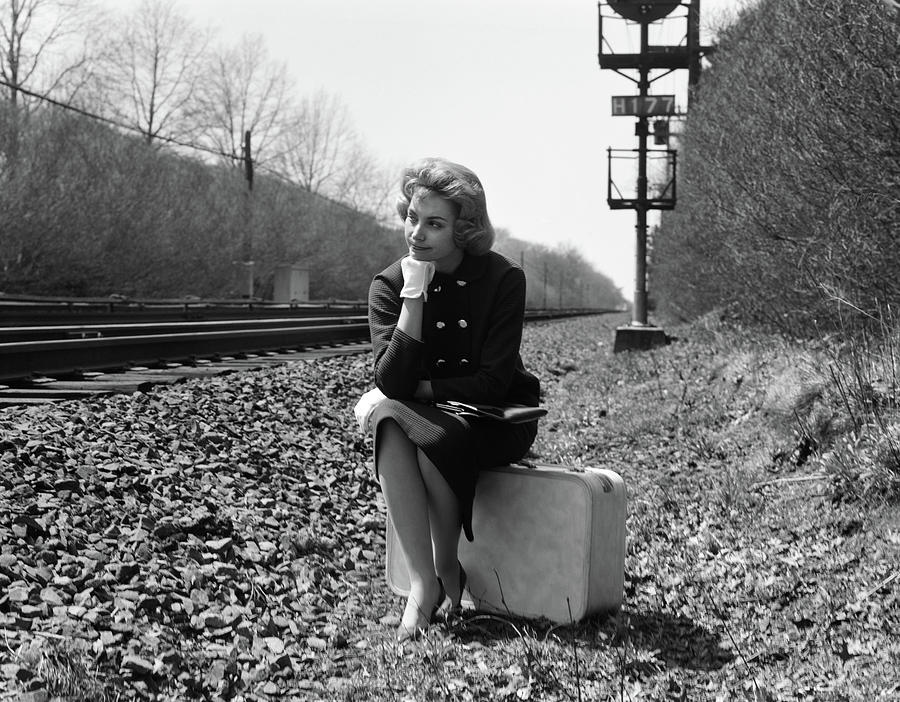 1950s 1960s Woman Sad Worried Facial Photograph By Vintage Images