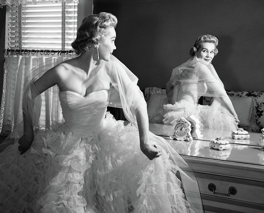 Strapless Gown Photograph by Vintage Images