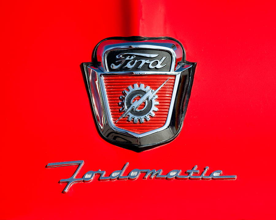 1950s Ford F 100 Fordomatic Pickup Truck Hood Emblems Photograph By