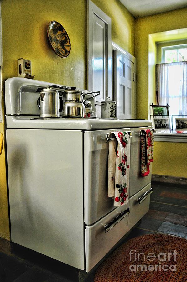 Paul Ward Photograph - 1950s Kitchen Stove by Paul Ward