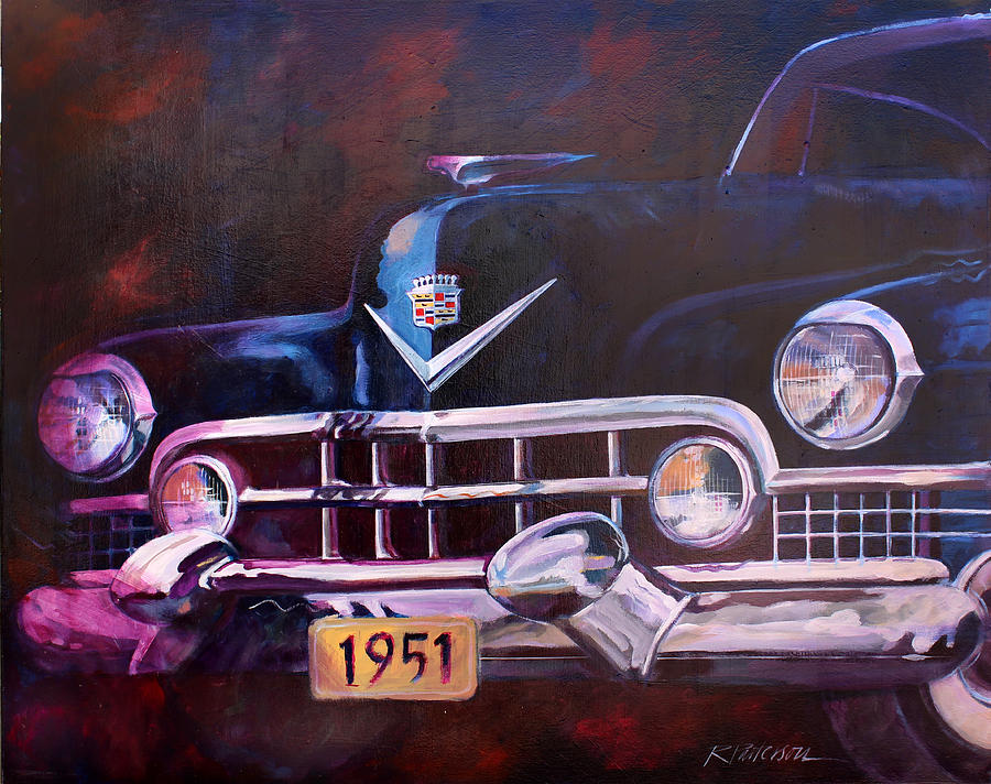 Transportation Painting - 1951 Cadillac by Ron Patterson