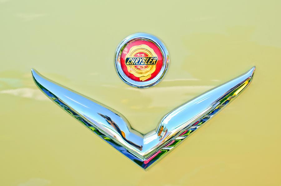Emblem Photograph - 1951 Chrysler New Yorker Convertible Emblem by Jill Reger
