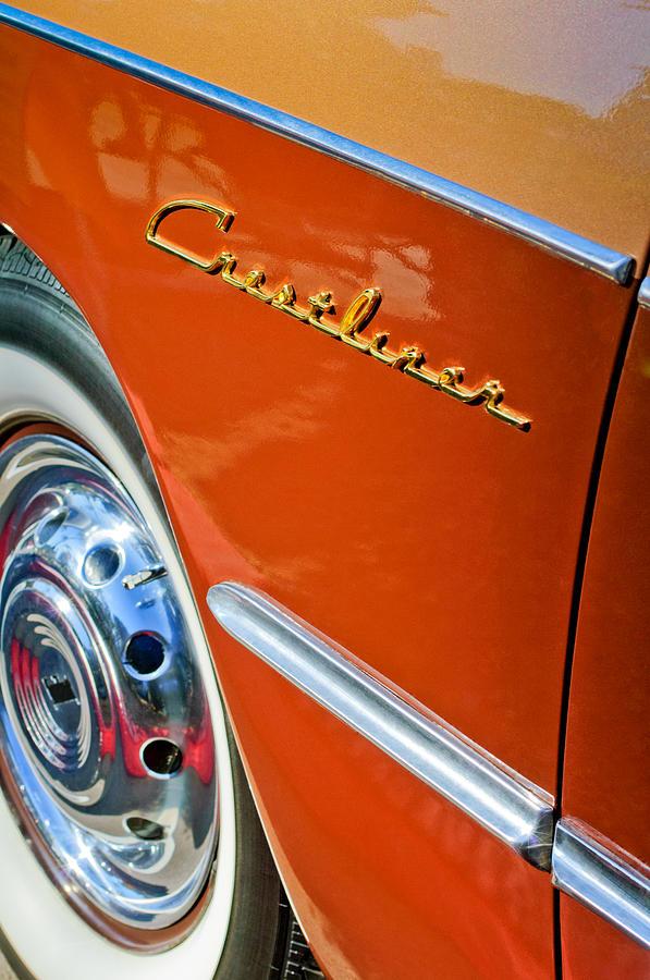 Classic Car Photograph - 1951 Ford Crestliner Emblem - Wheel by Jill Reger