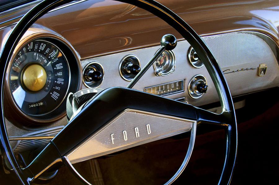 1951 Ford Crestliner Steering Wheel Photograph By Jill Reger