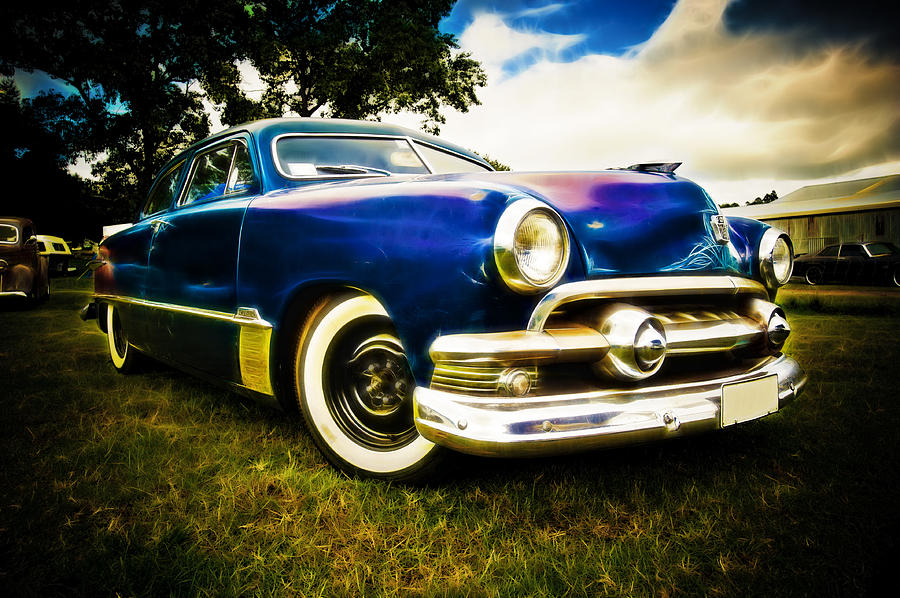 V8 Photograph - 1951 Ford Custom by Phil motography Clark