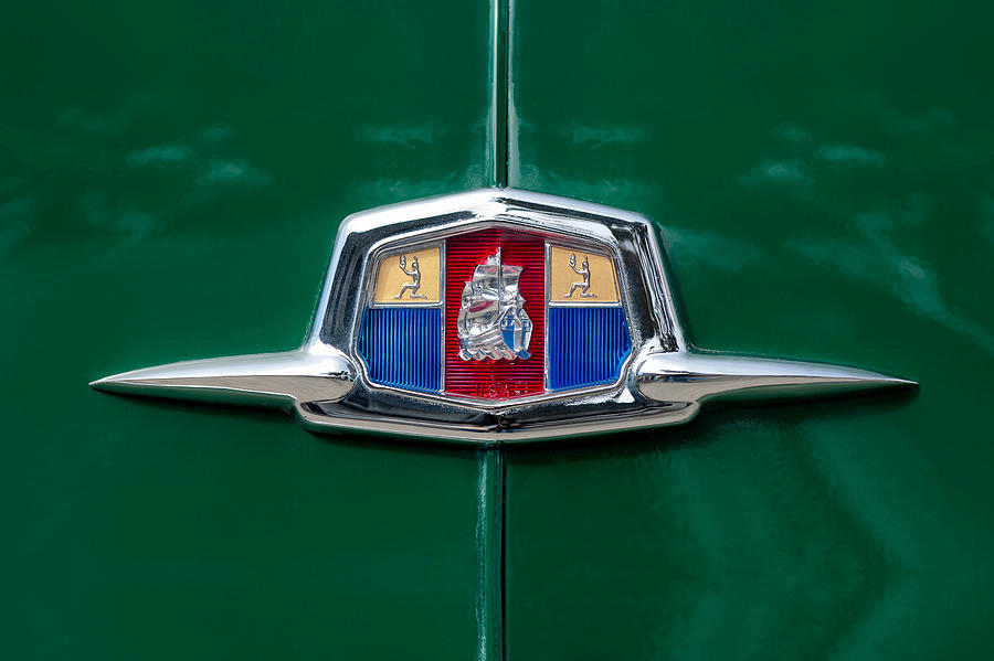 Emblems Photograph - 1951 Plymouth Suburban Emblem by Jill Reger