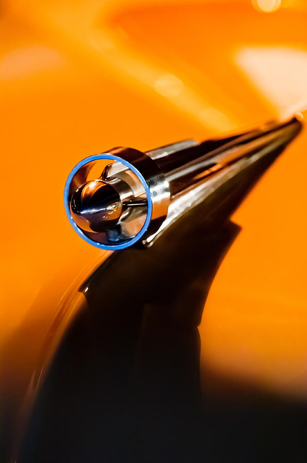 Classic Car Photograph - 1951 Studebaker Pickup Truck Hood Ornament by Jill Reger