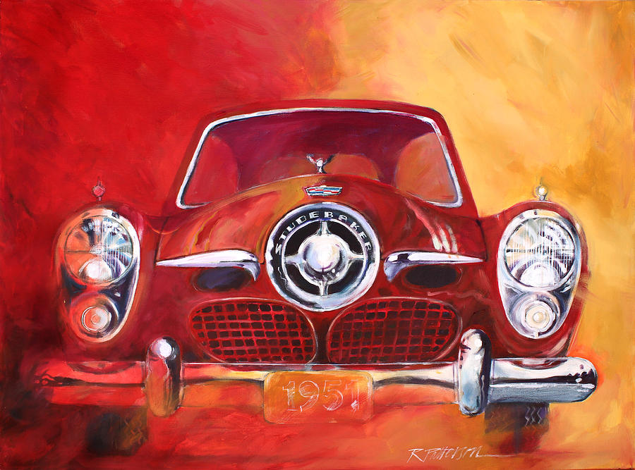Transportation Painting - 1951 Studebaker by Ron Patterson