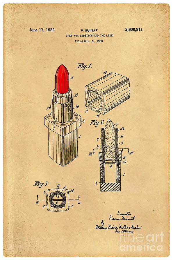 Chanel Digital Art - 1952 Chanel Lipstick Case 4 by Nishanth Gopinathan