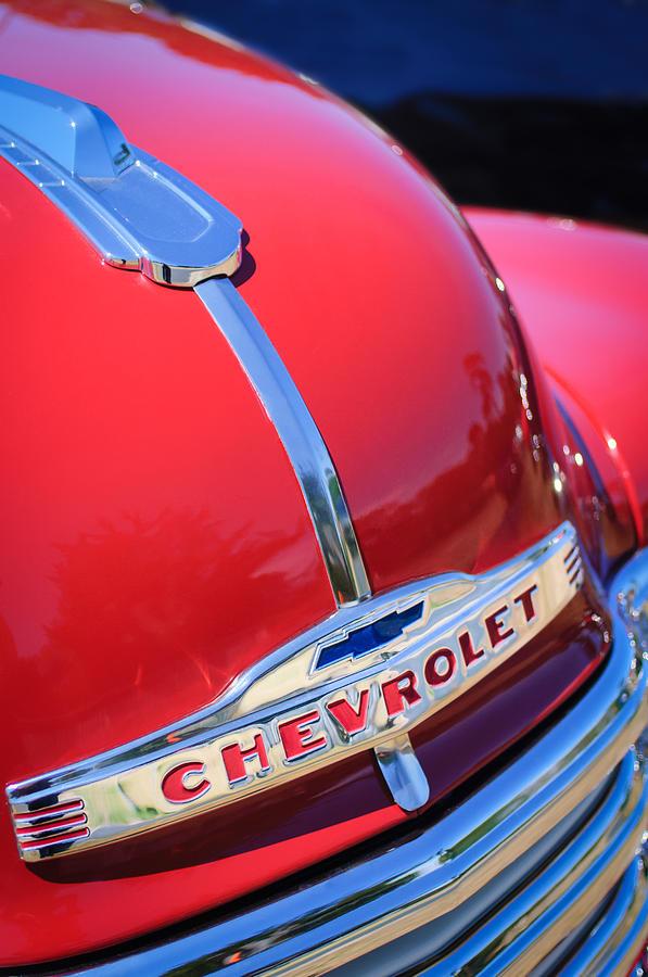 Classic Cars Photograph - 1952 Chevrolet Suburban Hood Ornament by Jill Reger