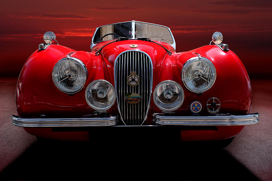Old Photograph - 1952 Jaguar Xk120  by Radoslav Nedelchev