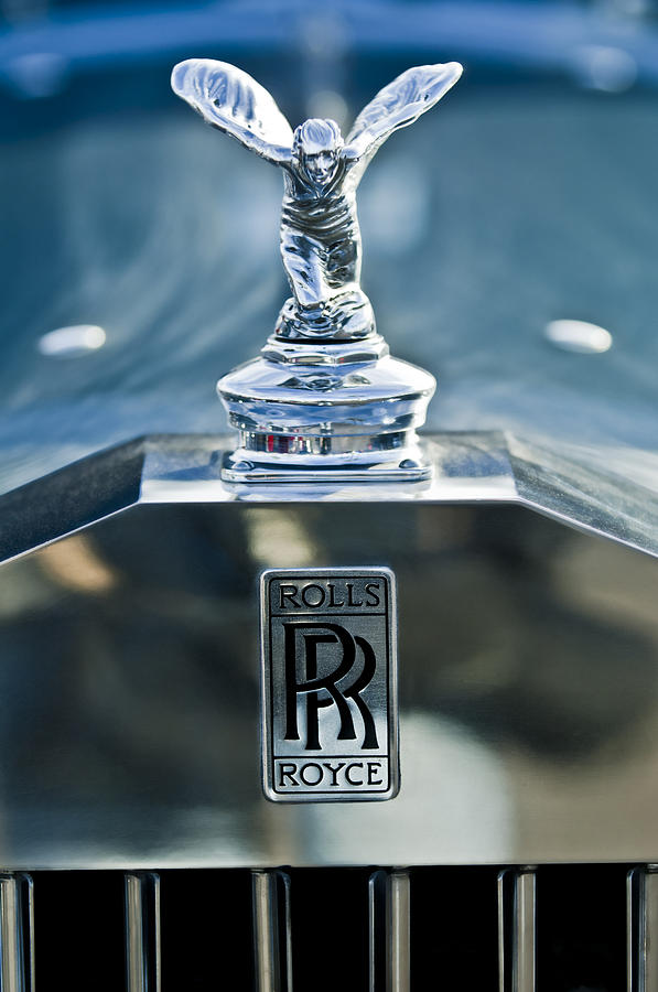 1952 Rolls Royce Hood Ornament Photograph By Jill Reger