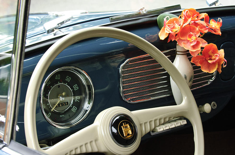 1952 Volkswagen Vw Bug Steering Wheel Photograph By Jill Reger