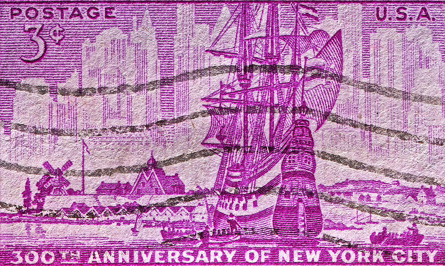 1953 Photograph - 1953 300th Anniversary Of New York City Stamp by Bill Owen