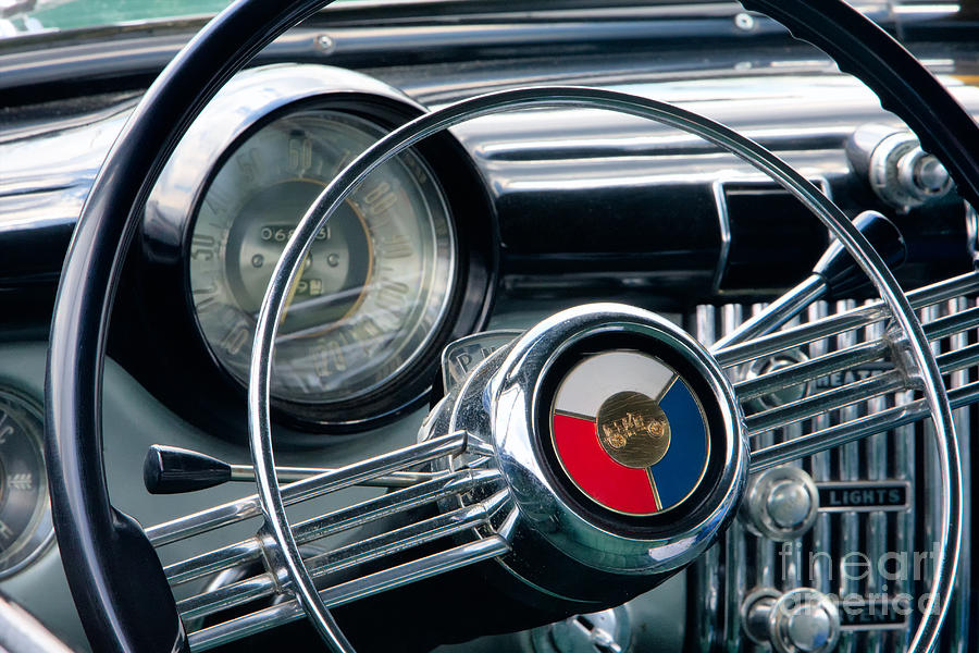 1953 Buick Super Dashboard And Steering Wheel