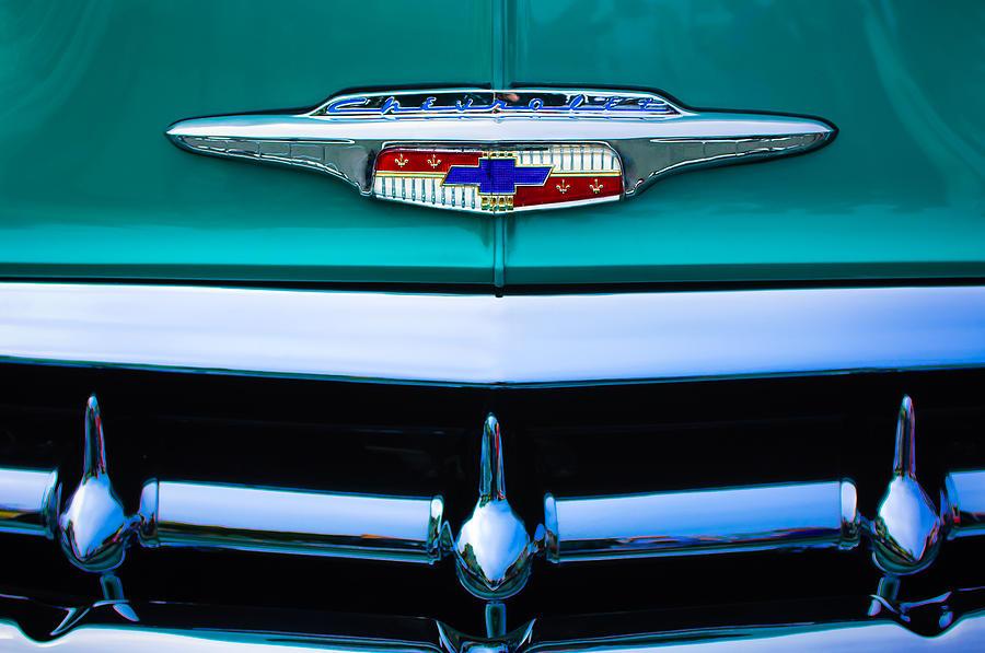 1953 Chevrolet Belair Grille Emblem Photograph By Jill Reger