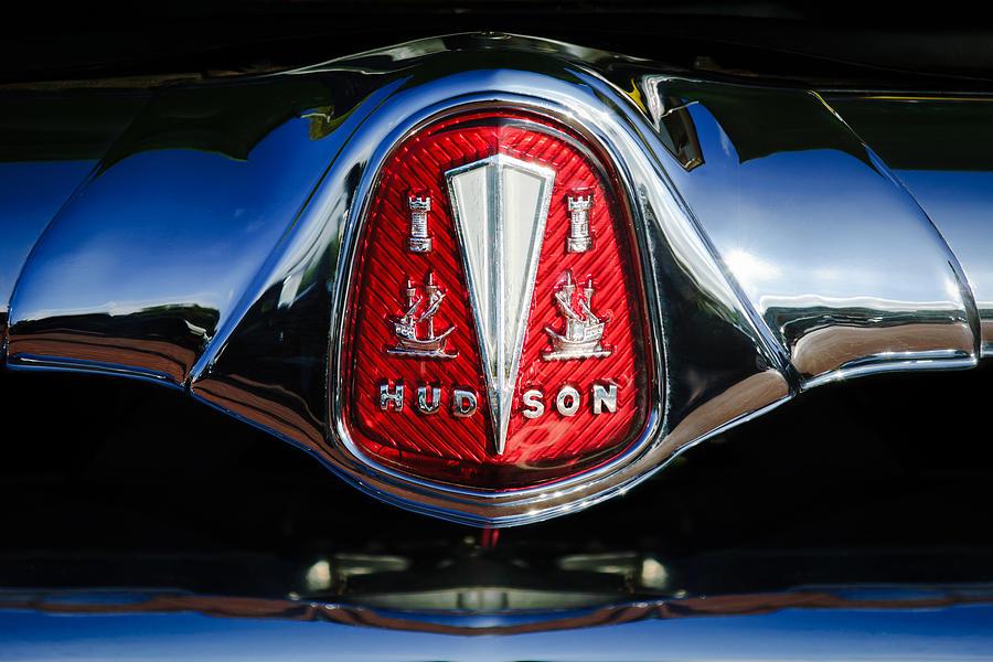 Classic Cars Photograph - 1953 Hudson Hornet Sedan Emblem by Jill Reger