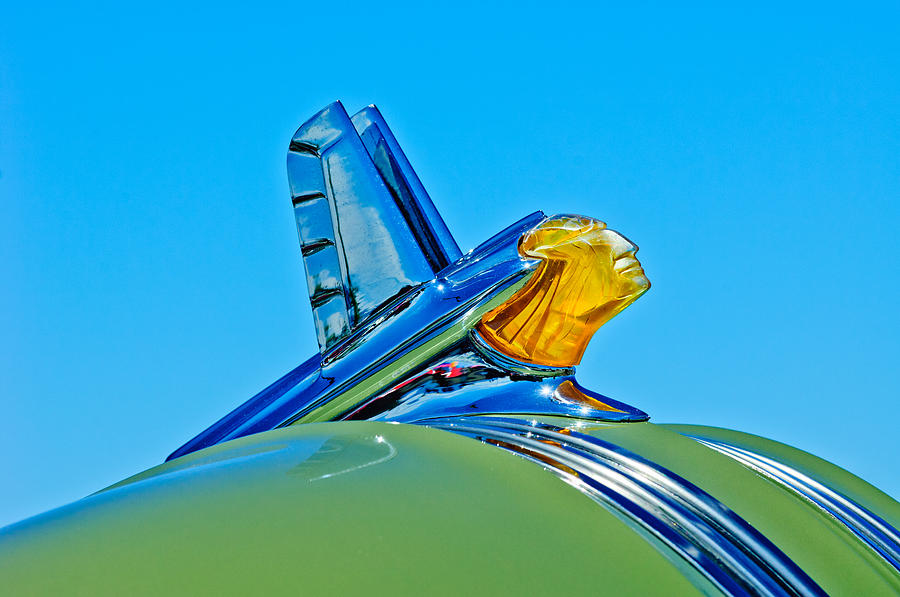 Chief Photograph - 1953 Pontiac Catalina Hood Ornament by Jill Reger
