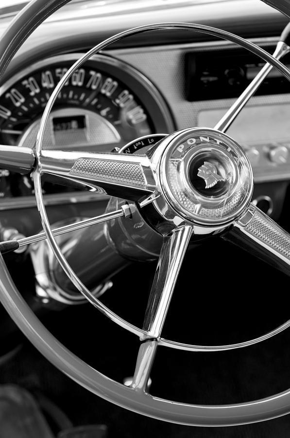 1953 Pontiac Photograph - 1953 Pontiac Steering Wheel 2 by Jill Reger