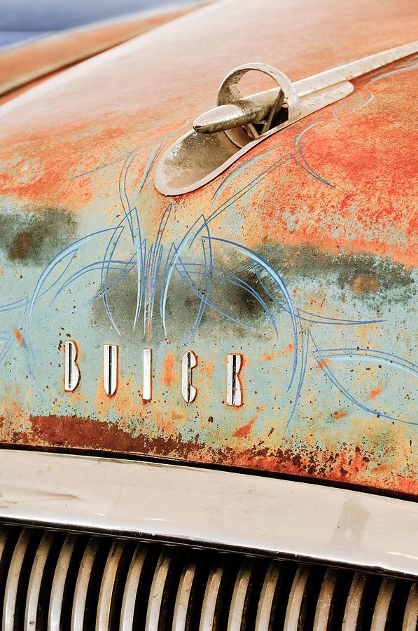 Buick Hood Ornament Photograph - 1954 Buick Special Hood Ornament by Jill Reger