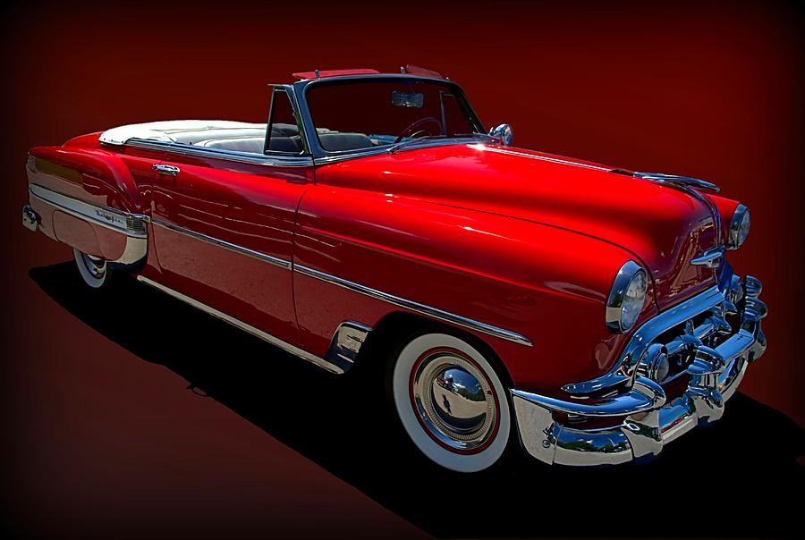 1954 Photograph   1954 Chevrolet Bel Air Convertible By Tim McCullough