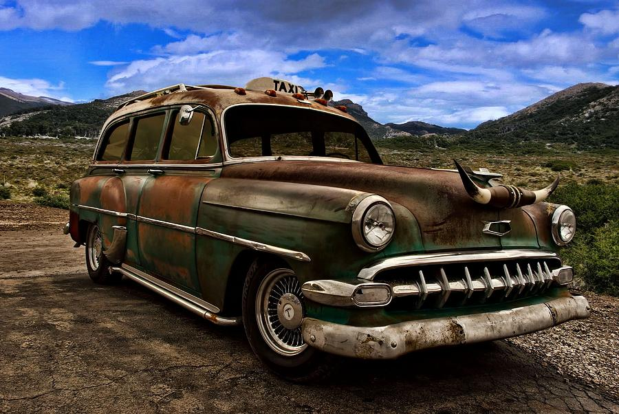 1954 Chevrolet Station Wagon Taxi Photograph by TeeMack