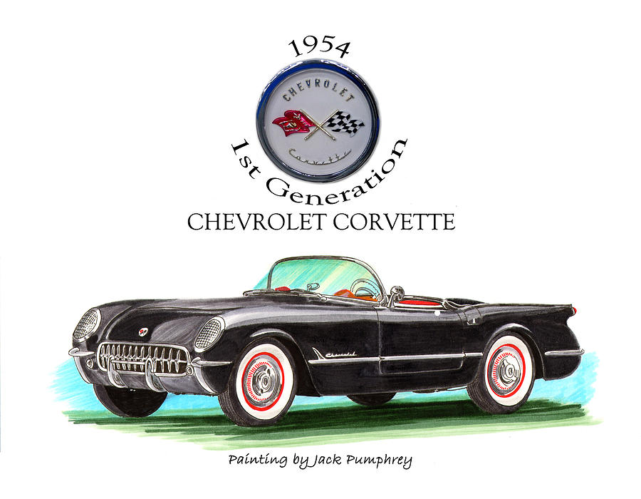 Corvette First Generation Painting by Jack Pumphrey