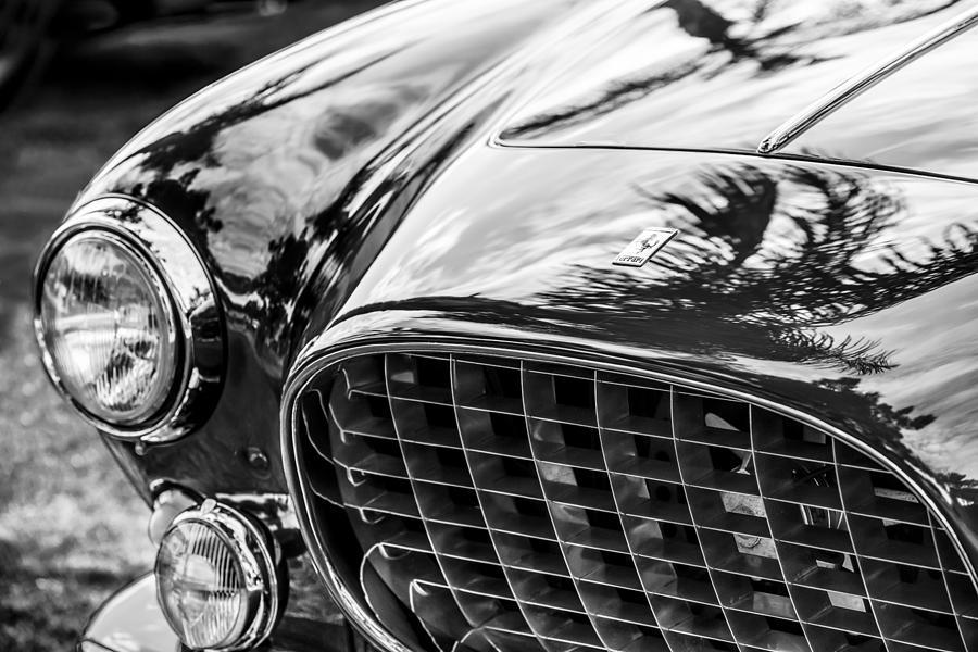 Bw Photograph - 1954 Ferrari Europa 250 Gt Grille -1336bw by Jill Reger