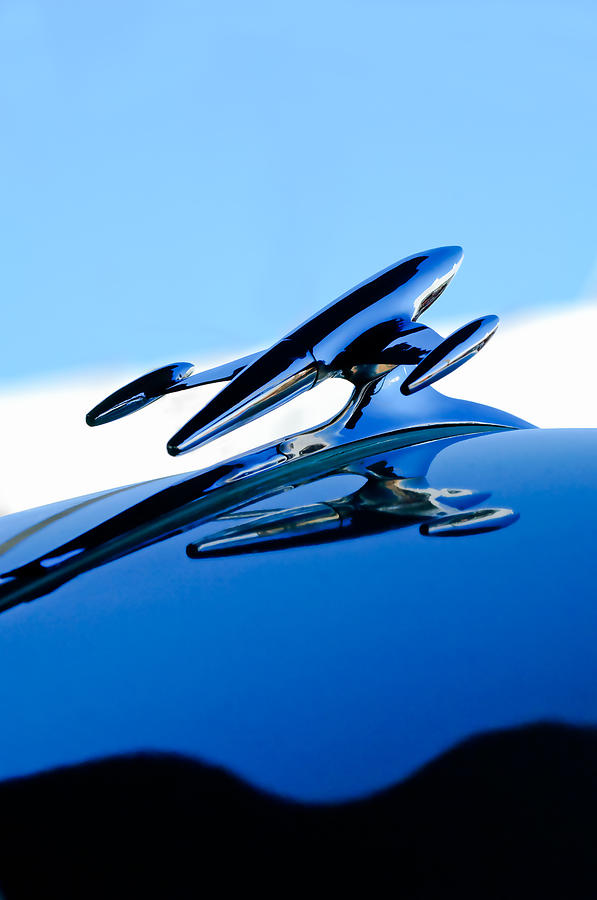 Truck Photograph - 1954 Gmc 100 Pickup Hood Ornament by Jill Reger