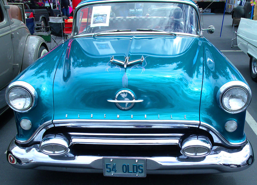 1954 Oldsmobile Blue Photograph