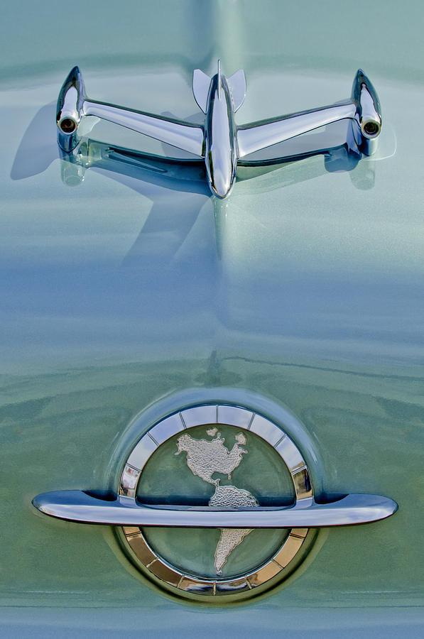 1954 Oldsmobile Super 88 Photograph - 1954 Oldsmobile Super 88 Hood Ornament by Jill Reger