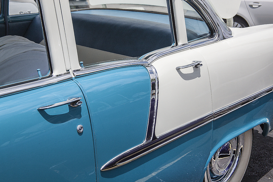 V8 Engine Photograph - 1955 Chevrolet 4 Door by Rich Franco