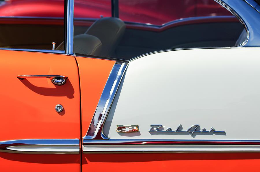 1955 Chevrolet Belair Side Emblem Photograph By Jill Reger
