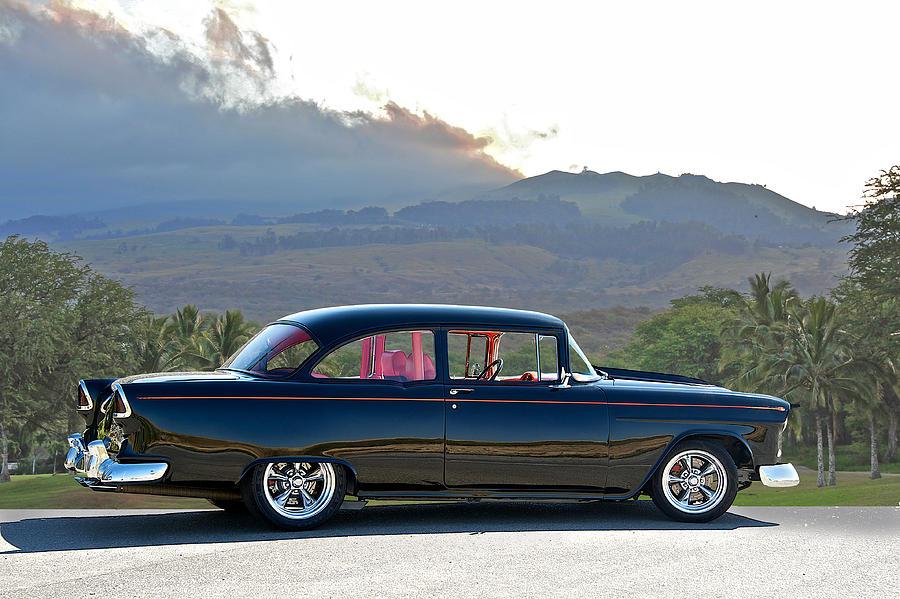 Auto Photograph - 1955 Chevrolet Custom Coupe by Dave Koontz