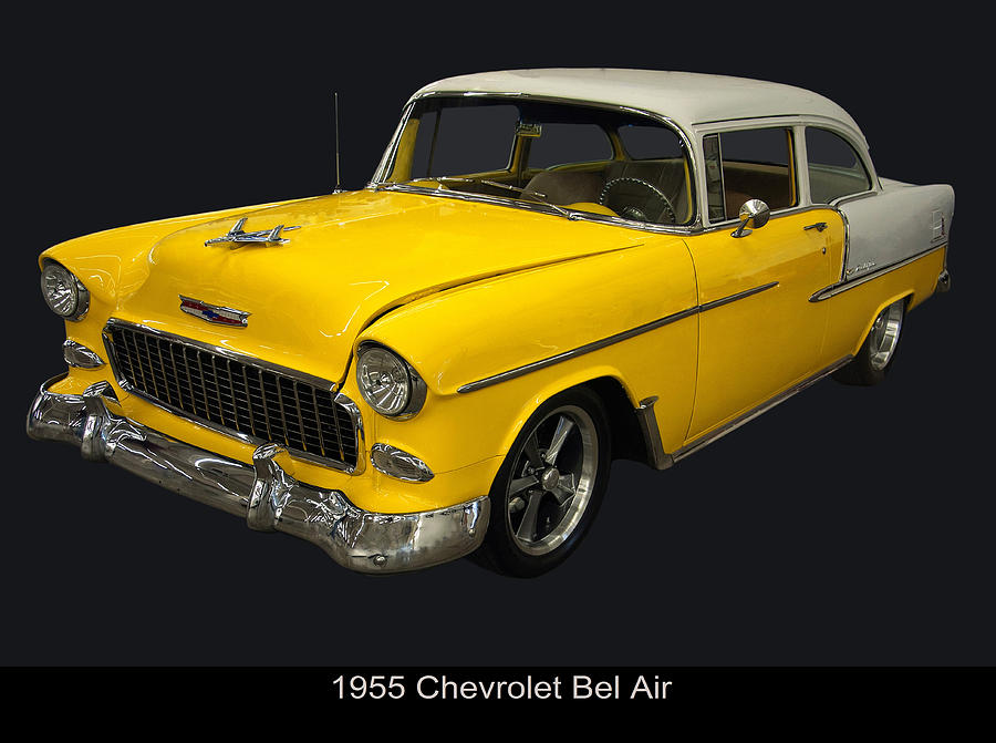 1950s Cars Photograph - 1955 Chevy Bel Air Harvest Gold by Chris Flees