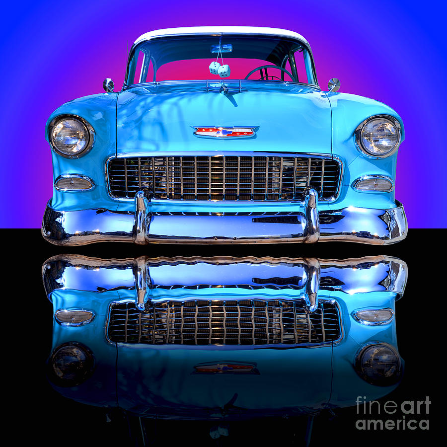 Car photograph 1955 chevy bel air by jim carrell