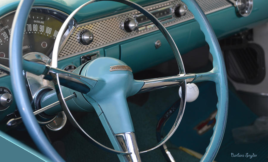 1955 Chevy Nomad Steering Wheel Photograph