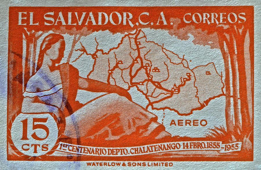 1955 Photograph - 1955 El Salvador Stamp by Bill Owen