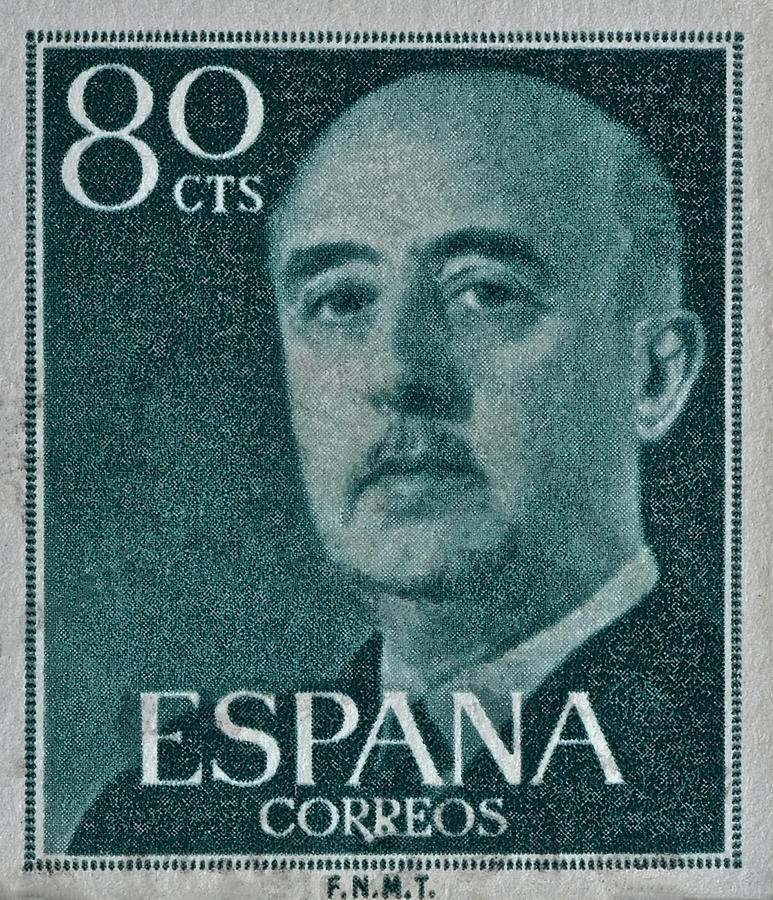 1955 General Franco Spanish Stamp Photograph By Bill Owen