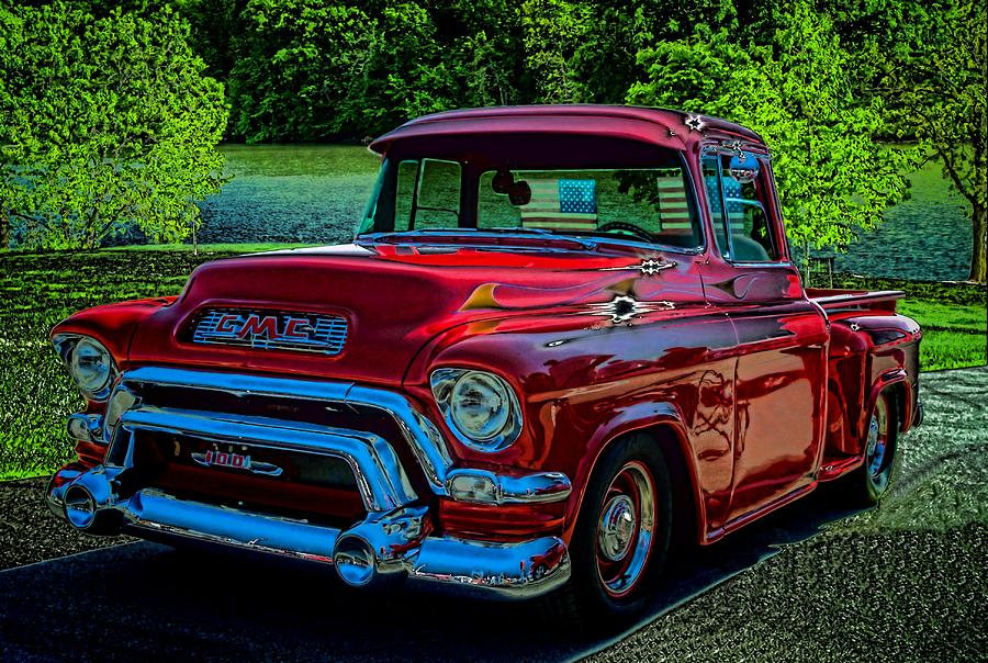 1955 gmc 100 pickup truck photograph by tim mccullough. Black Bedroom Furniture Sets. Home Design Ideas