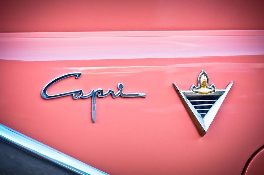 Emblem Photograph - 1955 Lincoln Capri Emblem 2 by Jill Reger