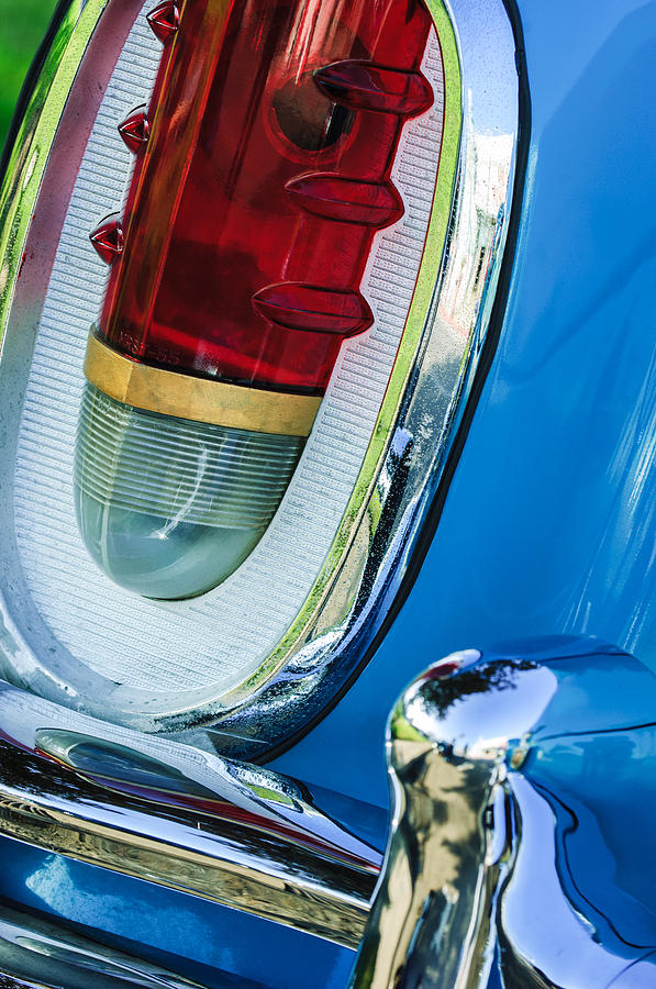 Classic Cars Photograph - 1955 Mercury Monterey Taillight by Jill Reger