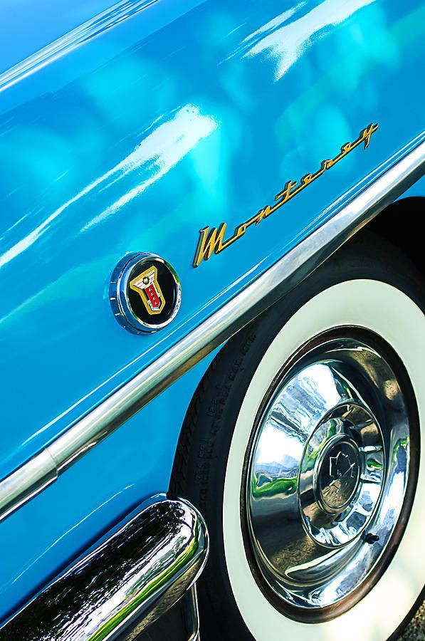 Classic Cars Photograph - 1955 Mercury Monterey Wheel Emblem by Jill Reger