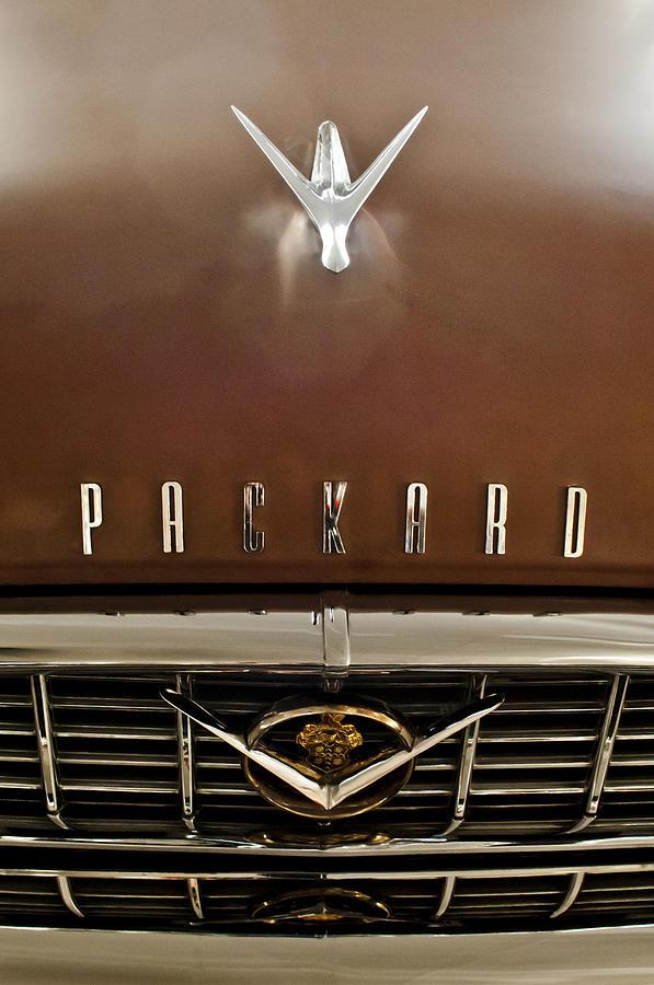 1955 Packard 400 Photograph - 1955 Packard 400 Hood Ornament by Jill Reger