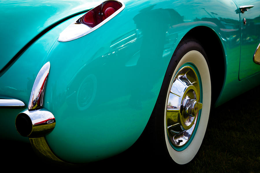 56 Photograph - 1956 Baby Blue Chevy Corvette by David Patterson
