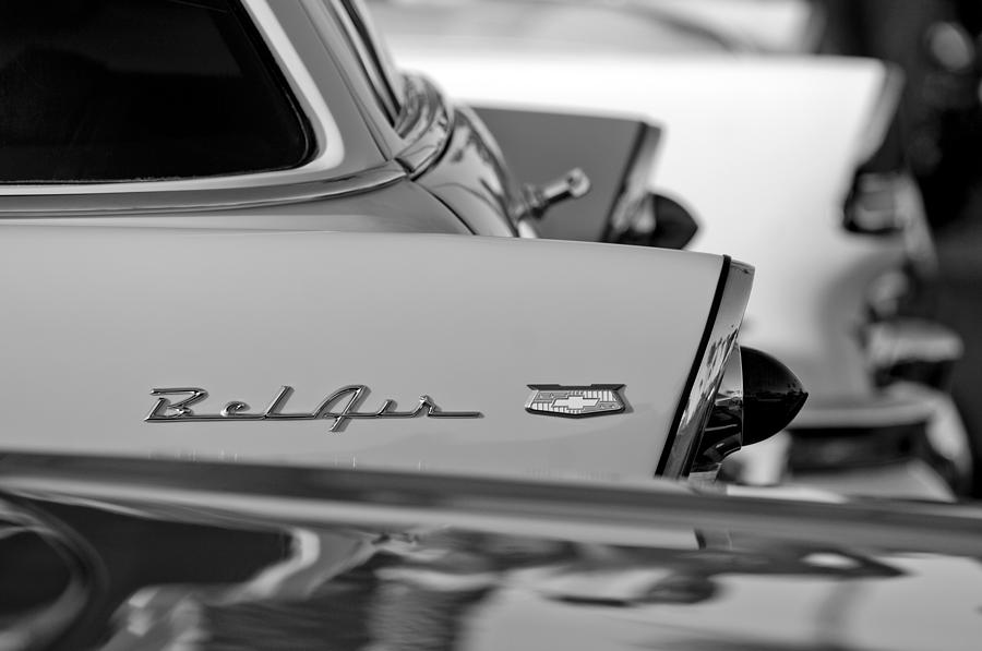 Rear End Photograph - 1956 Chevrolet Belair Nomad Rear End Emblem by Jill Reger
